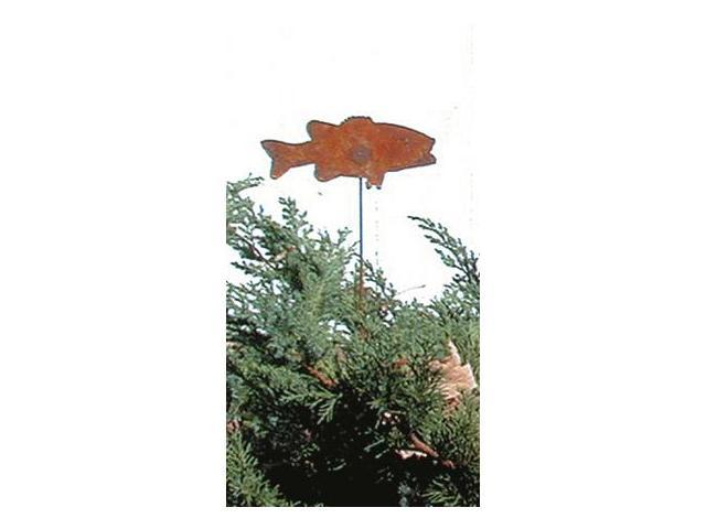 Village Wrought Iron RGS-9 Fish Rusted Garden Stake