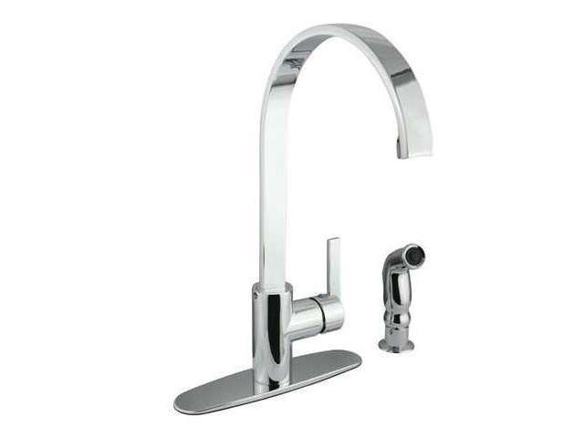 Kingston Brass GS8711CTLSP Gourmetier GS8711CTLSP Continental Single Handle Kitchen Faucet, Chrome