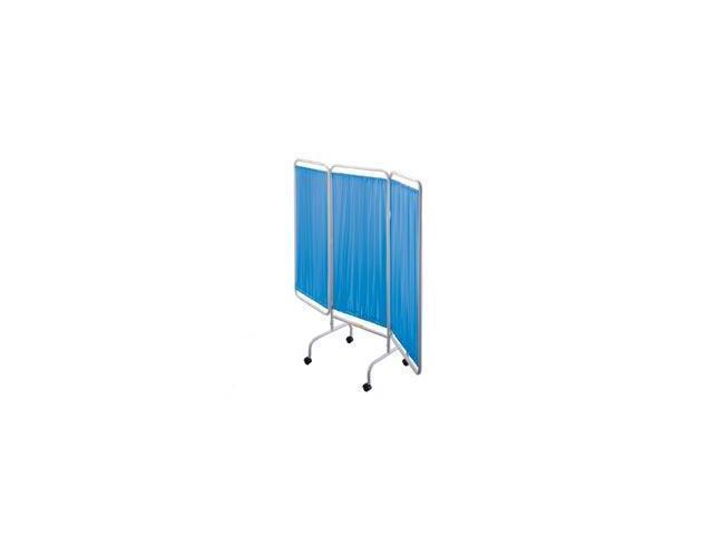 R&B Wire PSS-3C Portable Three Panel Patient Privacy Screen with Casters - Blue