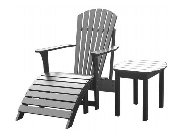 International Concepts K-51902-CTS-0 3-Piece Adirondack Lawn Set