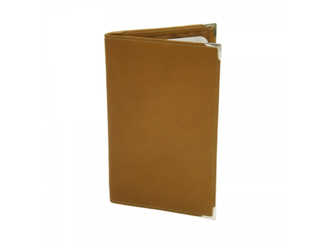 Piel Leather 2636 Vertical Score Card Cover- Saddle