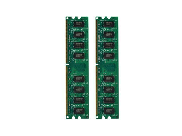Patriot Memory DDR2 8GB (2 x 4GB) PC2-6400 (800MHz) DIMM Kit - 8 GB - DDR2 SDRAM - 800 MHz DDR2-800/PC2-6400 - 1.80 V - Non-ECC - Unbuffered - 240-pin - DIMM