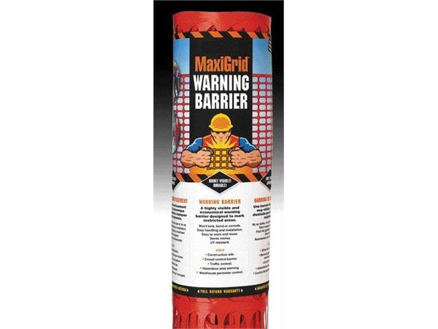 Easy Gardener   Maxigrid Warning Barrier  Orange 4 X 50 Ft   RC114050