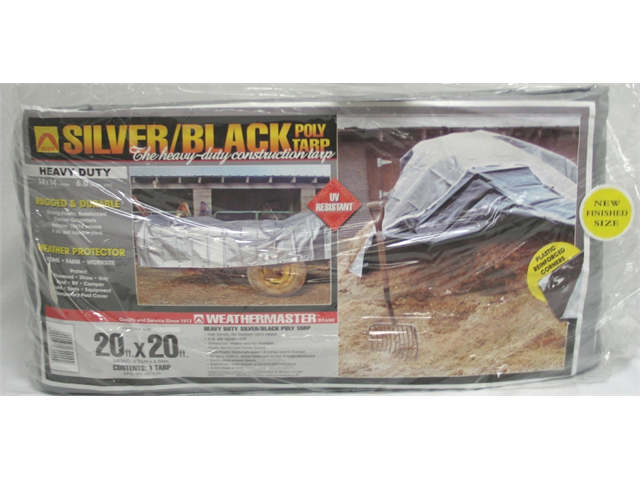 The Dize Company - Poly Tarp- Black-silver 20 X 20 - HD2020