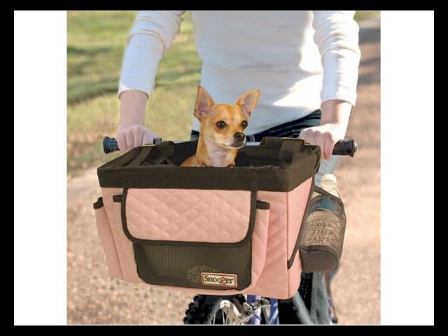 Snoozer SN-85002 Pet Bicycle Basket - Pink