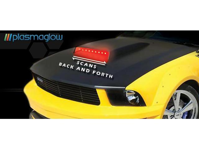 PlasmaGlow 10811 Hood Scoop Night Raider - 2 BARS - RED
