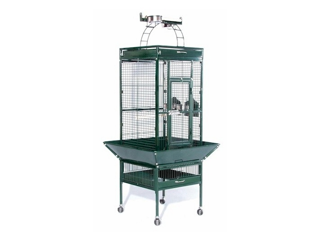 Prevue Hendryx PP-3151GRN Small Wrought Iron Select Bird Cage - Jade Green