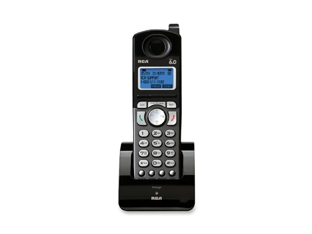 RCA Products RCA Products Phone Handset, 2-Line Cordless, Caller ID, BK-SR