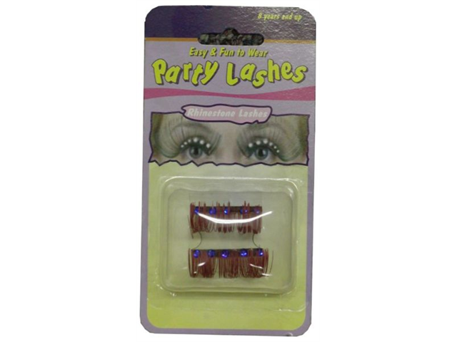 WMU Eyelashes Red with Rhinestones- Case of 4