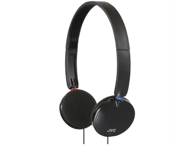 JVC HAS140B Lightweight On-Ear Headband Headphones (Black)