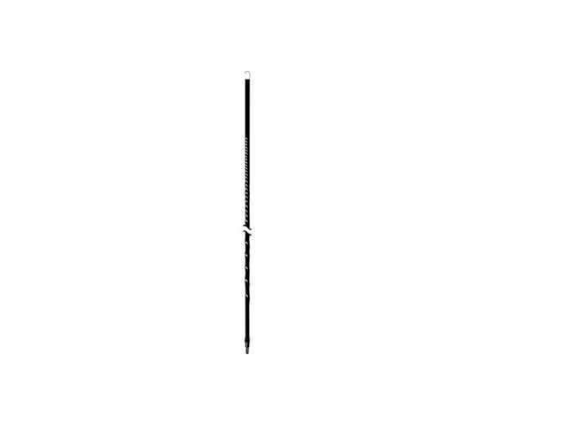 Accessories Unlimited AU2-B 2 ft. .38X24 THREAD FIBERGLASS ANTENNA - BLACK