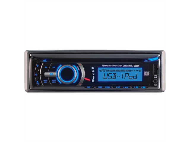 DUAL XDMA6438 Single-DIN In-Dash CD Receiver with iPod(R) Control