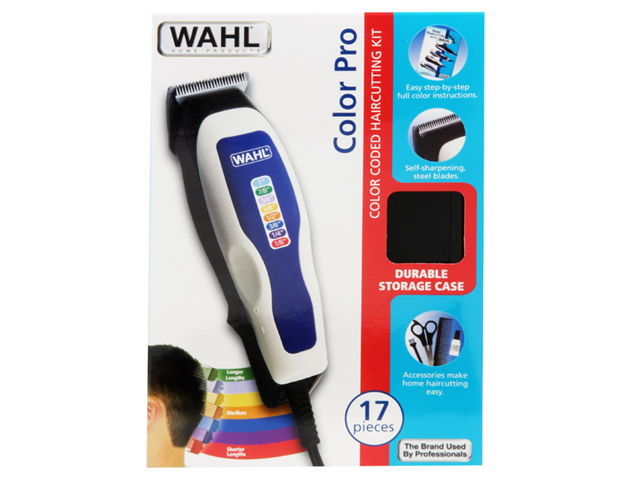 Wahl Haircutting Kit 17 Piece Color Coded Blades - White - 9155 700