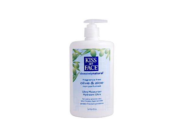 Kiss My Face 0339457 Ultra Moisturizer Olive and Aloe Fragrance Free - 16 fl oz