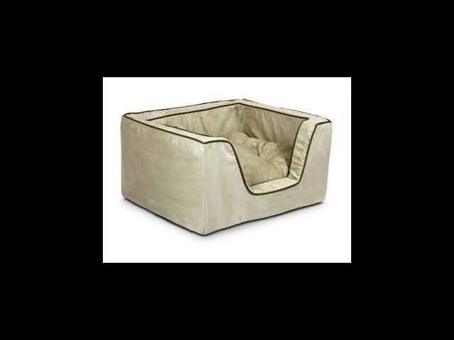 Snoozer SN-21387 Luxury Square Pet Bed - Large-Black-Herringbone
