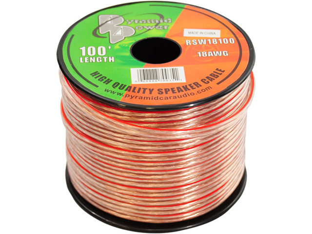 Pyramid RSW18100 18 Gauge 100 ft. Spool of High Quality Speaker Zip Wire