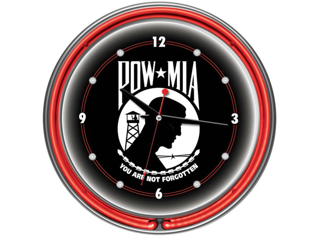 "Poker POW1400 14"" Pow Clock Neon Wall"