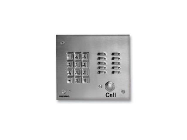 Viking K-1700-3 Handsfree Phone with Key Pad - Stainless