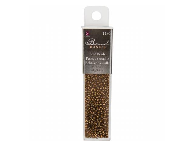 Jewelry Basics Glass Seed Beads 1.1oz-11/0 Matte Brown Seed Beads