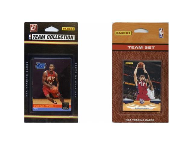 C & I Collectables NETS2TS NBA New Jersey Nets 2 Different Licensed Trading Card Team Sets