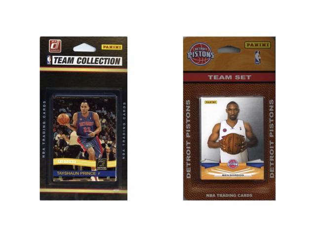 C & I Collectables PISTONS2TS NBA Detroit Pistons 2 Different Licensed Trading Card Team Sets