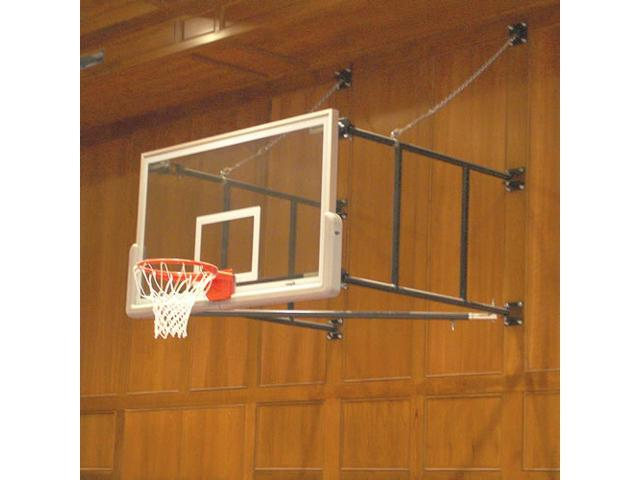 Jaypro Sports SF46GB Side Fold Backstops 4 ft.-6 ft. Extension with Glass Rectangular Board