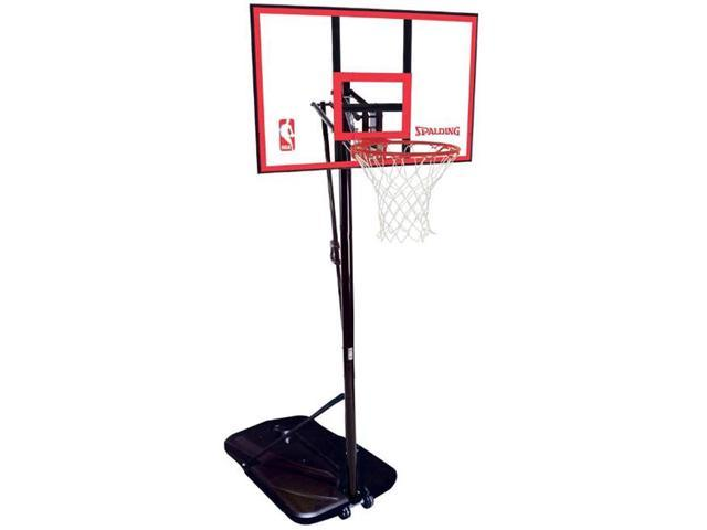Spalding 72351 Portable Basketball System with 44 in. Polycarbonate Backboard
