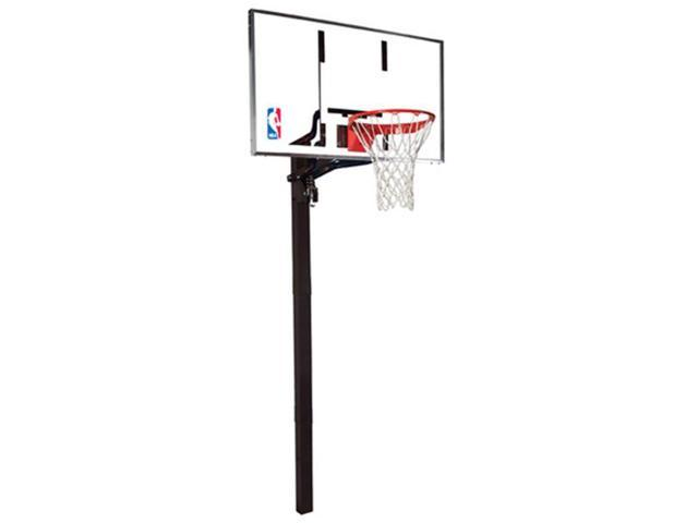 Spalding 88461G 60 in. Glass In-Ground Basketball System