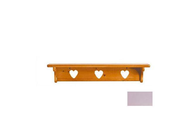 Little Colorado 1230LAVHT Wall Shelf without Pegs - Heart in Lavender