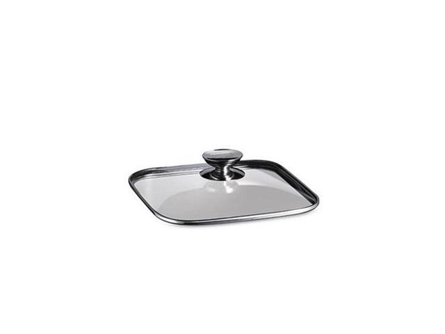 Berndes 606620 8 in. x 8 in. - Quadro Glass Lid with Stainless Knob