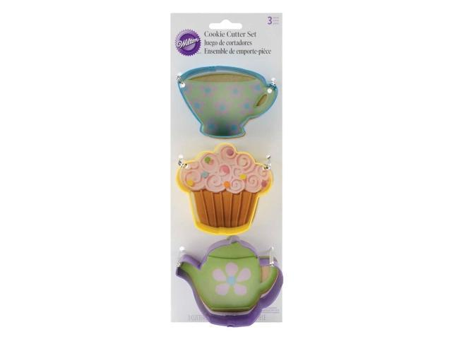 Wilton 23080092 Cookie Cutter Set 3-Pkg-Tea Party