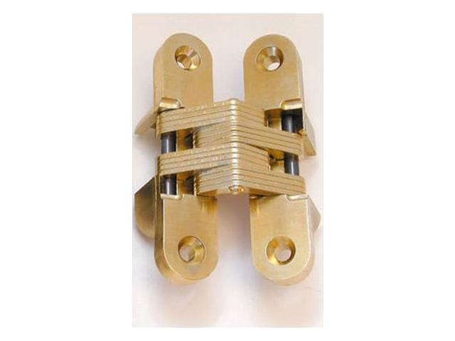 Hardware Distributors SS0208 4 1 in. Hinge Invisible Concealed - Satin Brass