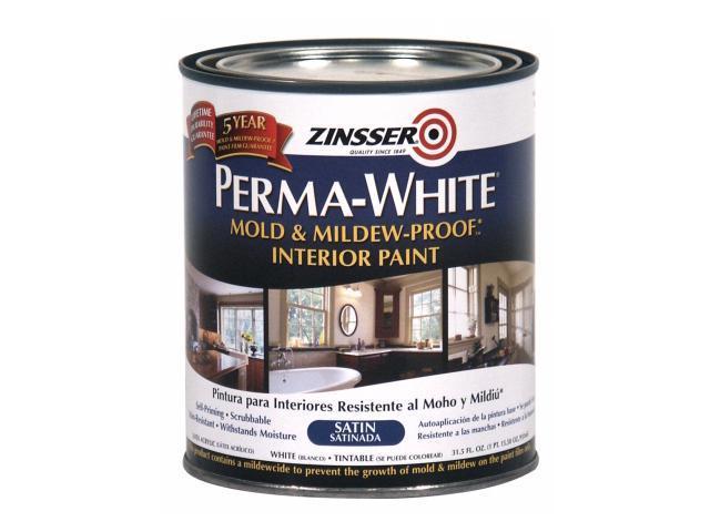 rustoleum 02704 quart satin gloss perma white mildew proof bathroom paint. Black Bedroom Furniture Sets. Home Design Ideas
