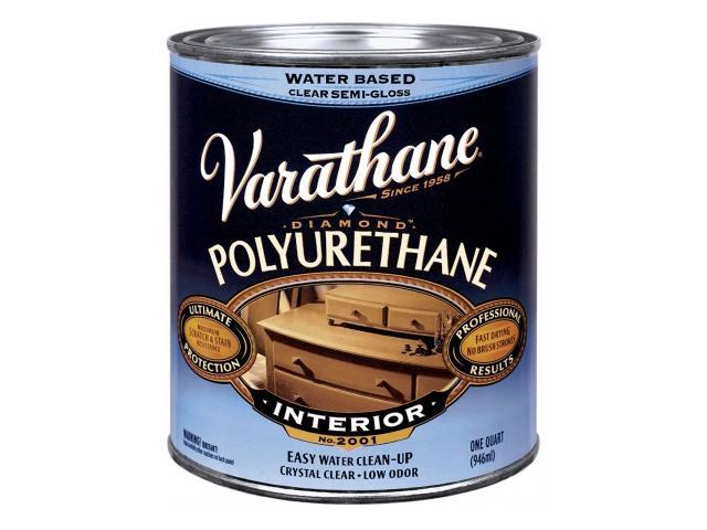 Rustoleum 200241h 1 Quart Satin Interior Water Based Diamond Polyurethane Finish
