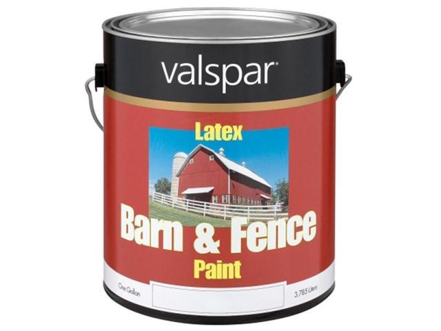 Valspar Brand 1 Gallon White Exterior Barn Fence Latex Paint 18 3121 70 Gl Pack Of 4