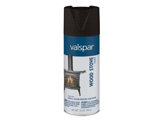 Valspar Brand 465 68005 12 Oz Black Wood Stove Spray Paint Pack Of 6