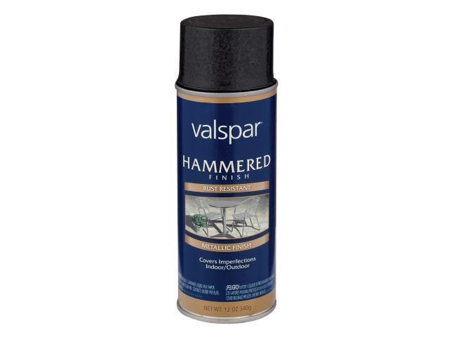 Valspar Brand 465 68217 Sp 12 Oz Hammered Black Spray Paint Pack Of 6