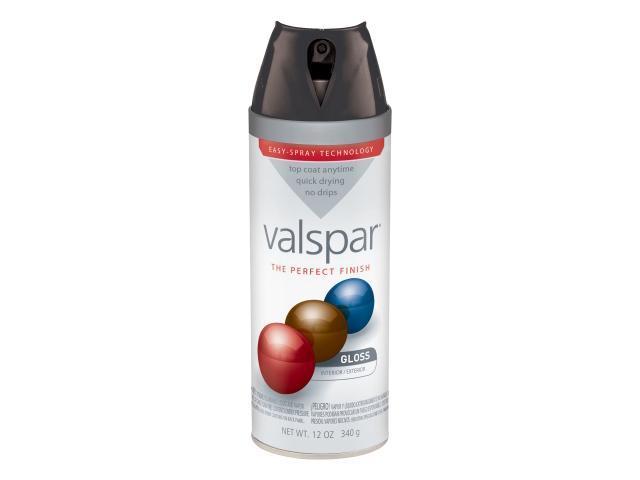 Valspar Brand 410 85048 Sp 12 Oz Black Gloss Premium Enamel Spray Paint Pack Of 6