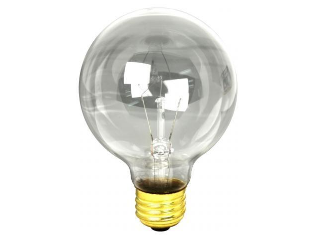 Feit 60G25/3 3 Count 60 Watt Clear Bath & Vanity Globe Light Bulb - Newegg.com