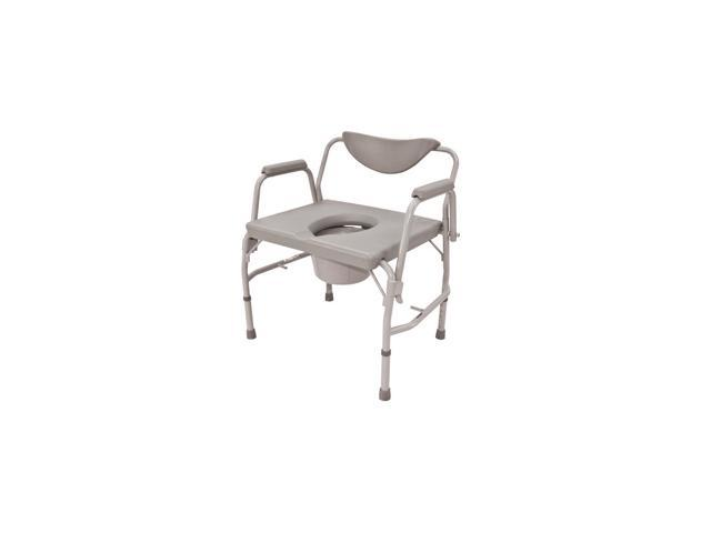 Roscoe Medical BTH-DAC Bariatric Drop-Arm Commode, Gray