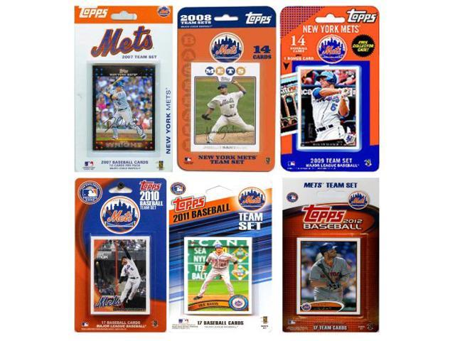 C & I Collectables METS612TS MLB New York Mets 6 Different Licensed Trading Card Team Sets