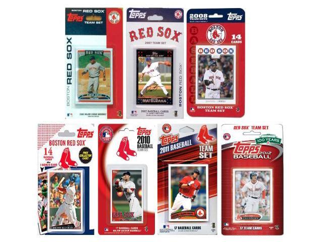 C & I Collectables REDSOX712TS MLB Boston Red Sox 7 Different Licensed Trading Card Team Sets