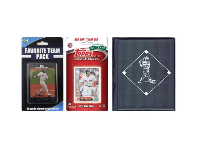 C & I Collectables 2012REDSOXTSC MLB Boston Red Sox Licensed 2012 Topps Team Set and Favorite Player Trading Cards Plus Storage Album