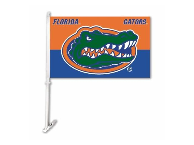 BSI PRODUCTS 97209 Florida Gators Car Flag with Wall Brackett