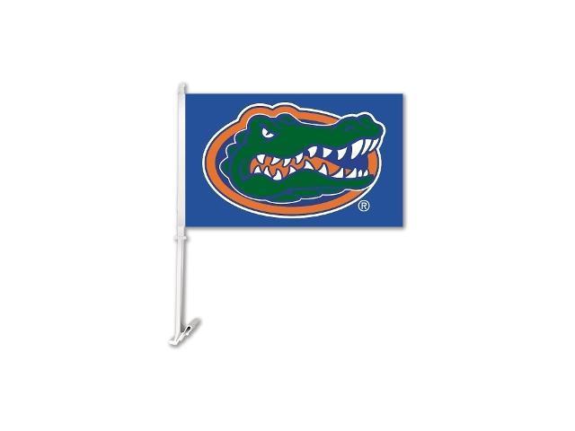 BSI PRODUCTS 97309 Florida Gators Car Flag with Wall Brackett