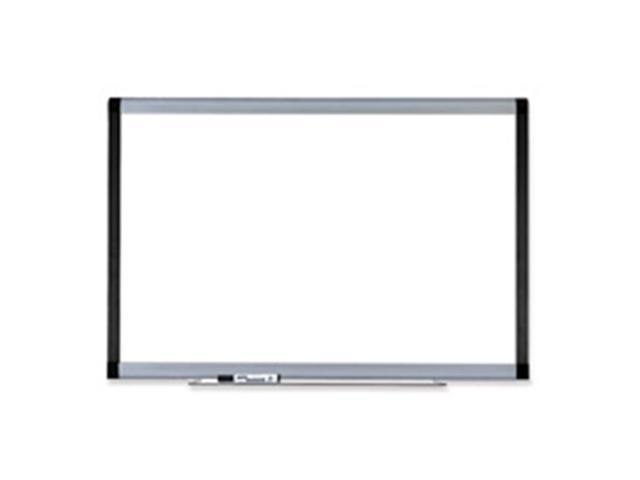Lorell LLR69654 Magnetic Dry-erase Board- 8ft.x4ft. Silver-Ebony