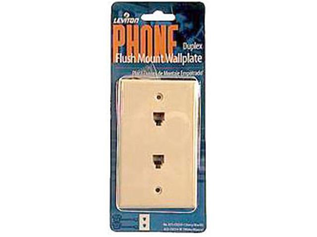 Leviton White Single Gang Flush Mount Duplex Phone Wallplate 832 ...