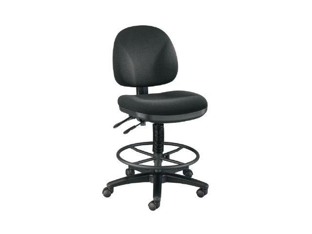 Alvin DC310-40B Prestige Artist-Drafting Chairs 21 in. Black Foot Ring