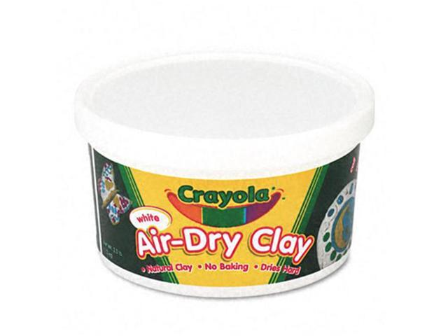Binney & Smith 575050 Air-Dry Self-Hardening Clay  2-1/2lb  White
