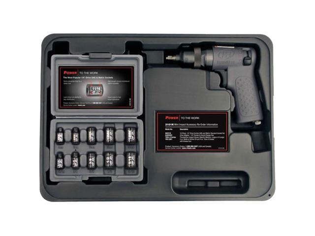 Ingersoll Rand 2101K Mini .25 Inch Impact Wrench Kit With 10 Sockets